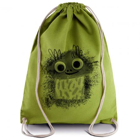 mochila cordones HappyChampi verde lima
